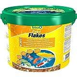 Tetra Pond Flakes Hauptfutter (in Flockenform, besonders gut geeignet für alle Klein- und Jungfische im Gartenteich), 10 liters Eimer