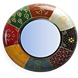 "D'Dass™ Colorful 18"" Decorative Wall Mirror / Wall Decorative/Mirror For Wall / Hanging Mirror / Painted Mirror / Small Mirror By D'Dass/Wall Mirror For Living Room/Bathroom Mirror/Mirror For Gift/Christmas & New Year Festival"