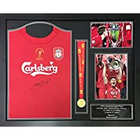 503fb6d8c Steven Gerrard signed   framed Liverpool 2005 Champions League Final shirt    medal display with COA