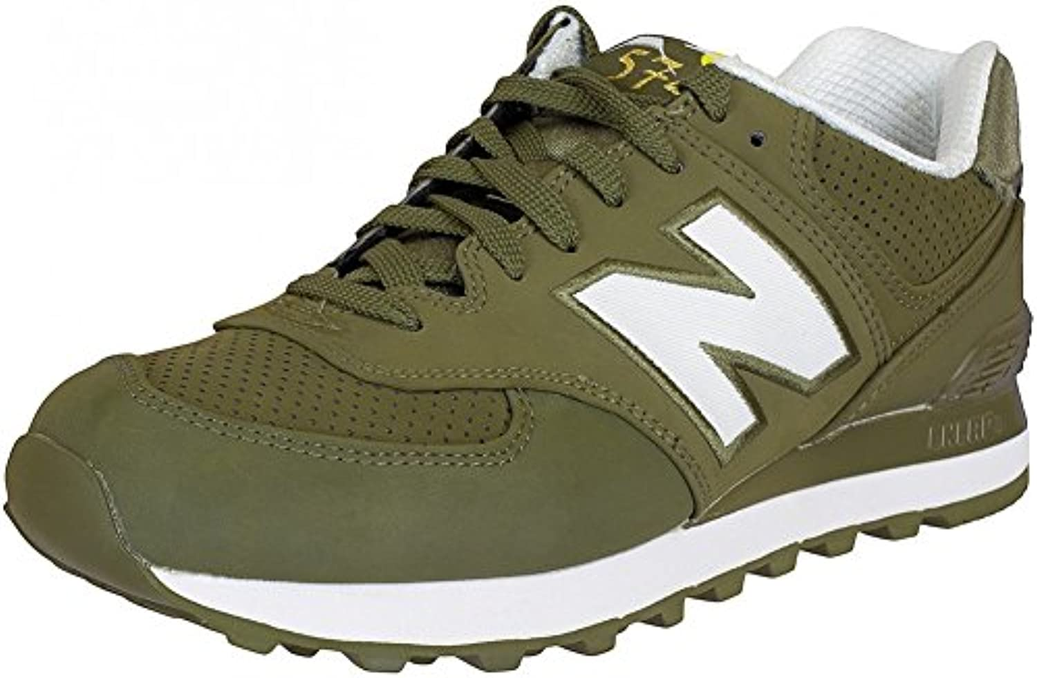 New Balance e Sneaker ML574 D Textil/Synthetik Oliv