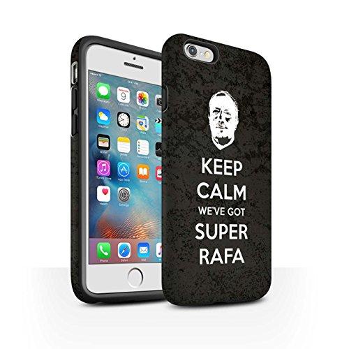 Offiziell Newcastle United FC Hülle / Matte Harten Stoßfest Case für Apple iPhone 6+/Plus 5.5 / Spanisch Maestro Muster / NUFC Rafa Benítez Kollektion Ruhig Bleiben