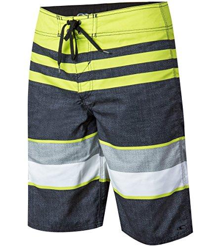 O'Neill Jungen Brisbane Lennox Board Rash Guard Shorts, Mehrfarbig (Avalon Black Lime), Gr. 38