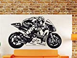 adesivo murale 3d paesaggio Moto Gp Valentino Rossi Moto Gp Poster Moto Racing Decal Motocross