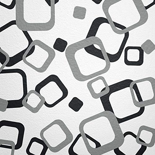 WANDfee® Wandtattoo Vierecke 60 Aufkleber FARBWUNSCH Wandaufkleber Kinderzimmer Wohnzimmer Flur Fliesenaufkleber Bad Badezimmer Küche -