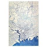 artboxONE Poster 45x30 cm Städte Brest Frankreich Blue