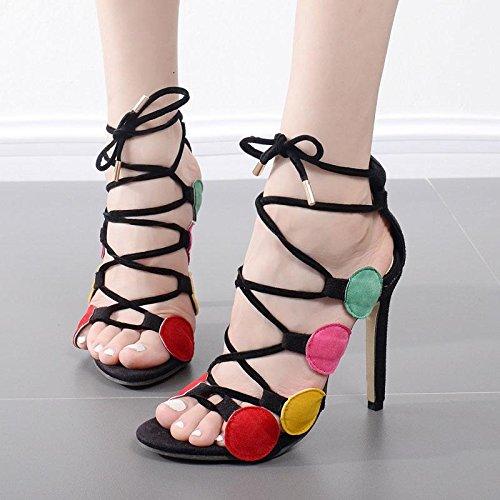 ZYUSHIZ Frau Die Schuhe High-Heel Crossover Die Feine mit dem Stil ist einfach und elegant. 37EU