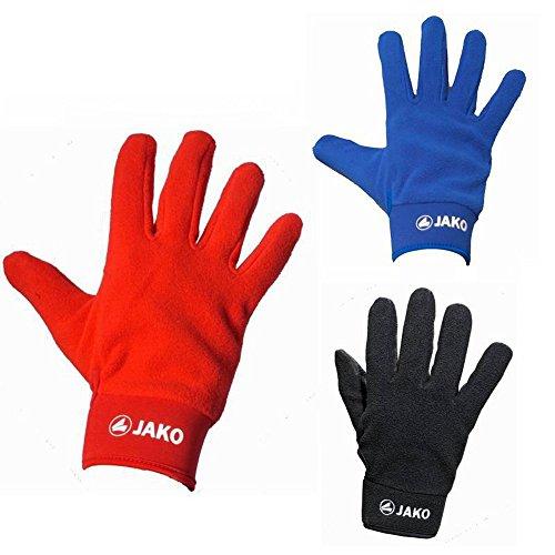 Sportskanone JAKO Bergamo Feldspielerhandschuhe Damen Herren Kinder Spielerhandschuhe Schwarz Rot Blau, Grösse:5;Farben:Rot