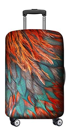 VELOSOCK Kofferschutzhülle – Hält sauber und schützt – RED BIRD / FÜR ALLE GROSSEREN GEPÄCKSTÜCKE - 90 Tage Geld-zurück-Garantie (Elasthan Zurück)