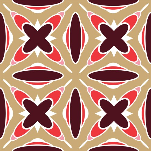 Berlintapete - Wallpaper On Demand - Designtapete - Trends - Timeless - Geometrisches 60er Designmuster Nr. 13388