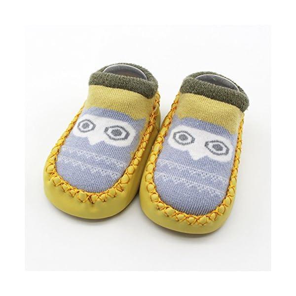 MAYOGO Calcetines Corto Bebe Niño Recién Nacidos Calcetines de Bebé Niña Algodón Antideslizantes Dibujos Animados bebés… 3