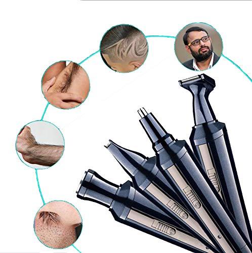 QJXF 4 In 1 Haarschneider Wiederaufladbare Elektrische Wasserdichte Grooming Kit Haar Nase Ohr Bart Clipper Trimmer Präzision Trimmer Wiederaufladbare -