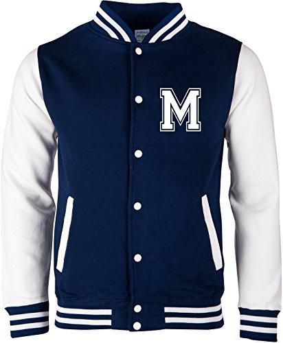 Kostüm Baseball Yankees - EZYshirt® Wunschinitalen Wunschnummer College Jacke für Damen | Herren | Kinder