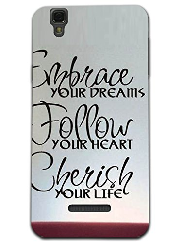 Kaira Brand Designer White case cover For Micromax Yu Yureka(Dream)