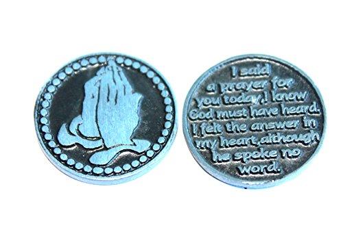 Cross I Said Gebet für Sie Heute Zinn Pocket Token