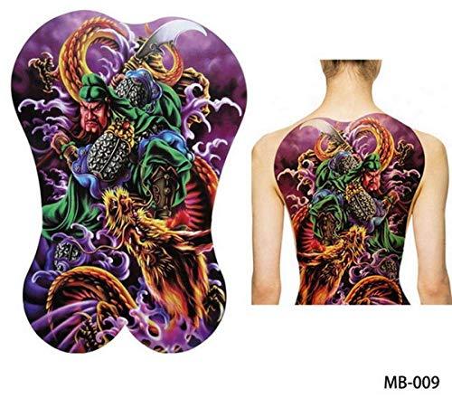 Super Big Large Full Back Brust Tattoo Aufkleber Fisch Wolf Tiger Dragon Buddha Wasserdicht Temporäre Flash Tattoos Cool Men Women (Toy Brust Kinder Big)