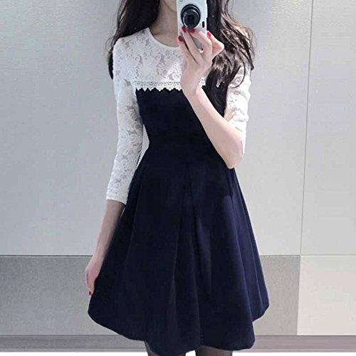 Pop Mantra Women\'S Dress (Pm-9000-0065-Blue & White-1-S_Multi-Coloured_Small)