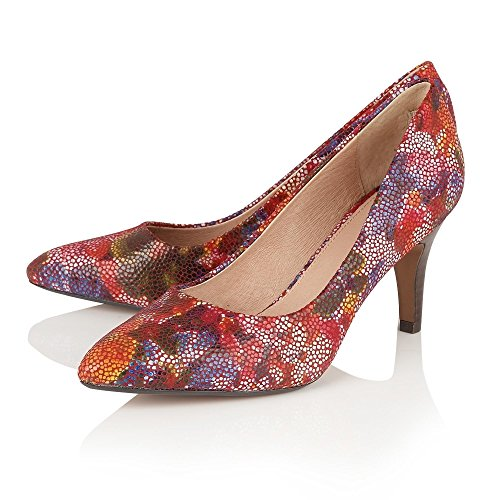 Lotus Amaranta Multi Floral Leather Court Shoes 4