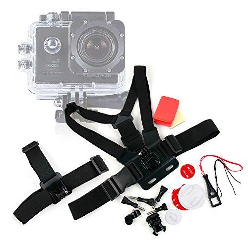 DURAGADGET-Kit-de-accesorios-para-cmaras-deportivas-DBPOWER-EX5000-WIFI-12MP-Boblov-Gitup-Git2-2K-30fps-Novatek-96660