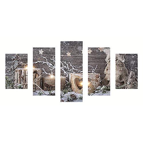 Voller Bohrer DIY 5D Diamant Malerei Stickerei Kreuz Handwerk Stich Kit Home Decor Weihnachtsdeko Dekoration Geschenk Weihnachten Handwerk Dekorationen Handgemachtes(A,Freie ()
