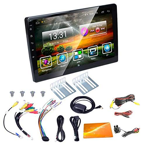 JoyFan 8,1 Universal Car Stereo 10,1 Zoll Touchscreen Doppel 2Din Auto Radio Video Multimedia Nicht-DVD Mp3 Mp5-Player mit Bluetooth 4G WiFi GPS-Navigation Kostenlose Kamera