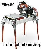 ELITE-80_Robuste Steinsäge, Steintrennmaschine, Schneidlänge 800 mm, Fliesenschneidmaschine, Fliesenschneider, Nassschneider. Fliesen, Kacheln, Steinplatten, Platten etc.