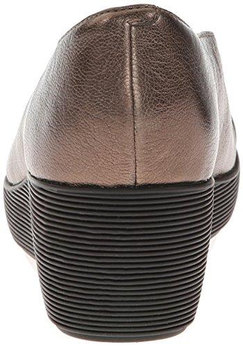 Clarks Claribel Flare Wedge Pump Bronze leather
