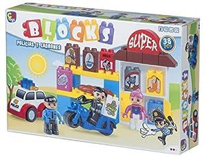 ColorBaby - Juego de bloques Policías y Ladrones - 38 piezas (43533)