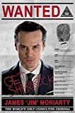 Sherlock Moriarty Wanted Maxi Poster, Holz, mehrfarbig