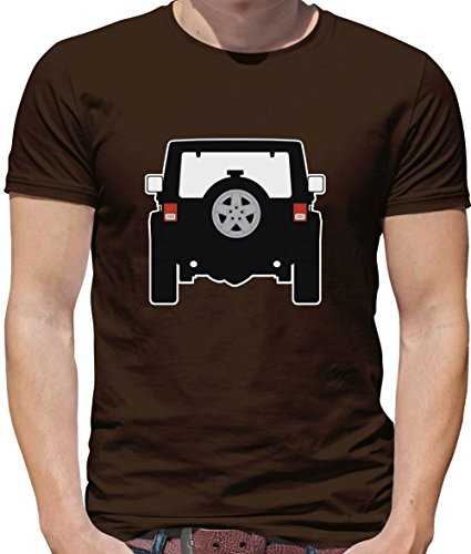 Wrangle - Heckansicht Schwarz - Herren T-Shirt - Schokobraun - XS (Cherokee Herren T-shirt Schwarz)
