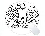 Runde Mausunterlage mit Rastkante, American Bald Eagle Themes Office Runde Mausunterlage