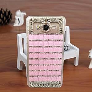 Purple Samsung J5(2015) Fancy Cover Designer Bling Back Cover Case For Girls