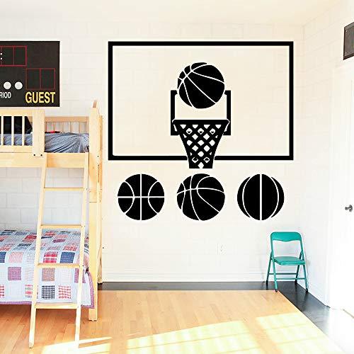 Moderne basketball aufkleber abnehmbare vinyl wandbild poster dekor wohnzimmer schlafzimmer abnehmbare diy pvc dekoration zubehör 58 * 60 cm