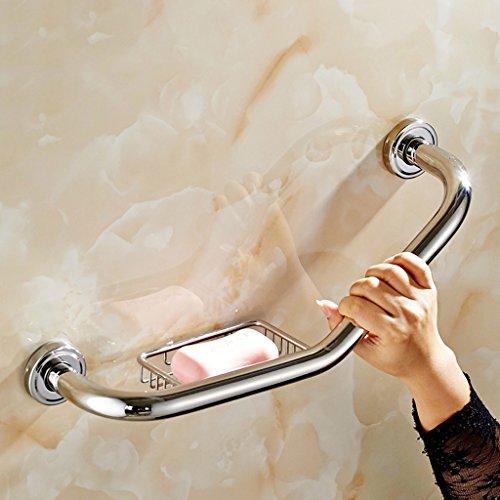 manico antiscivolo WC in acciaio inox per disabili doccia WC vasca da bagno corrimano parete anziani sicurezza