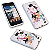 SILIKON TPU DESIGN BUTTERFLY -4- HANDY COVER CASE Hülle Schale Tasche SAMSUNG i9100 Galaxy S2 -