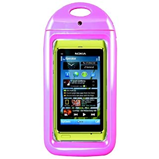 Aryca WS13P Wave Waterproof Case for iPhone and Smaller Smartphones - 1 Pack - Retail Packaging - Pink