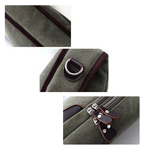 YAAGLE Damen und Herren Unisex Brustbeutel Schultertasche Kuriertasche Canvas multifunktional Sporttasche Reisetasche-schwarz schwarz