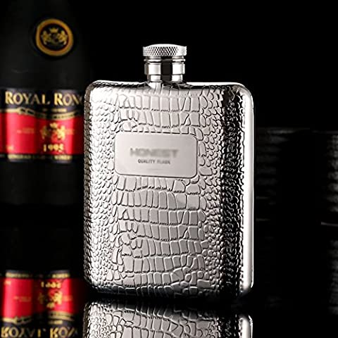 Stainless Steel Wine Bottle Super Classy Pocket Flask Engraved Hip Flask Gift Set 6oz Funnel Excellent for Travel/Adventure/Gift for Men and Women Beautiful Box Included