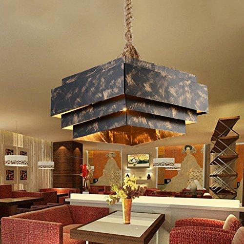 Kronleuchter- Loft amerikanische kreativ Retro Nostalgie Industrie Rund Single Head Eisen Kronleuchter Wohnzimmer Cafe Restaurant Bar Kronleuchter (Form Optional) --Innen Kronleuchter ( Farbe : C ) -