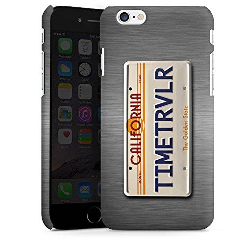Apple iPhone X Silikon Hülle Case Schutzhülle Nummernschild Future Zeitreise Premium Case matt