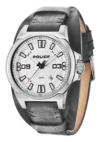 Police Jersey Herren-Armbanduhr Analog Quarz Leder - PL.94202AEU/04