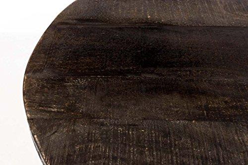 CLP Weinschrank Chicago aus Holz I Barwagen mit DREI Ablagen und Laufrollen I Mobile Weinbar I In Verschiedenen Farben erhältlich Antik Braun - 4