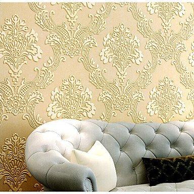 zhENfu Wallpaper 3D Accueil pour revêtement mural classique non-tissé en WallpaperRoom,Matériel requis adhésif jaune lumière