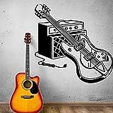 wukongsun Bunte e-Gitarre wandaufkleber Baby kinderzimmer Dekoration Dekoration wasserdicht Wohnzimmer wandkunst Aufkleber schwarz M 28 cm X 28 cm