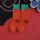 LFKWZ calcetín Invierno Hombres Calcetines Algodón Divertido Largo Feliz Calcetines Comida Sandía Harajuku Mariscos Vino Loco Calcetines Unisex Fantasía Funky Fruta