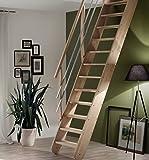 Intercon® Raumspartreppe Living aus Massivholz Fichte oder Buche, variabler Neigungswinkel (Buche)