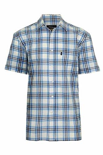 Champion Herren Portchester Kurzärmliges Hemd aus Baumwolle Blau