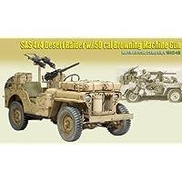 SAS 4X4 Desert Raider w/.50 cal Browing MG North Africa 42-43 Replica