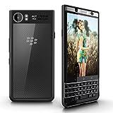 BlackBerry KEYone Custodia Cover, Myriann Slim Cover trasparente trasparente scratch leggero copertina di Copertura Posteriore Acrilica Rigida di Lusso per BlackBerry KEYone (Nero)