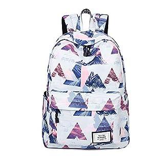 51OwlhEX21L. SS324  - Mochila para Chicas, Moda Impreso Universidad Bolsas Estudiante Escuela Mochila Encaja 14 Pulgadas Laptop Viajes Bolsa Daypack