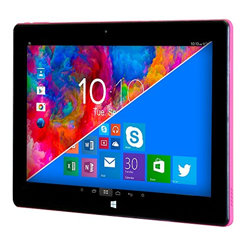 Woxter ZEN 12 - Tablet de 11.6' (Intel Atom Z3735F Quad Core, 1.33-1.83 GHz, Wi-Fi, Bluetooth, 2 GB de RAM DDR3L, 32 GB de memoria interna, Windows 10/Android 5.1) color negro y rosa
